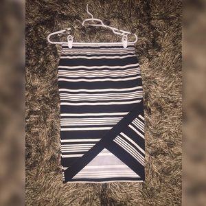 BRAND NEW. Stripped Pencil Skirt